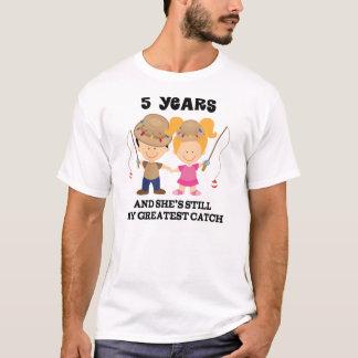 Camiseta 5to Regalo del aniversario de boda para él