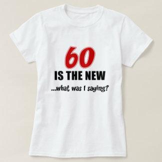 Camiseta 60 es nuevo qué