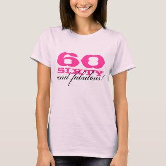 Camiseta 60.o ¡Camisa el | 60 del cumpleaños y fabuloso!