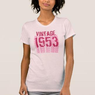 Camiseta 60.o Pasteles suaves ligeros 1953 del vintage del