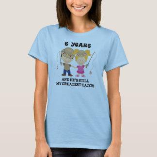 Camiseta 6to Regalo del aniversario de boda para ella