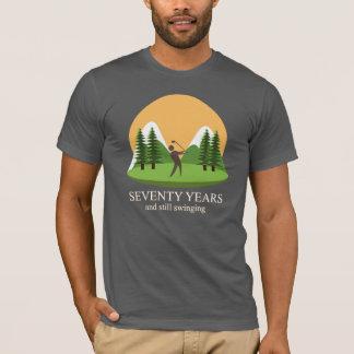 Camiseta 70.o Cumpleaños setenta años y golf todavía de