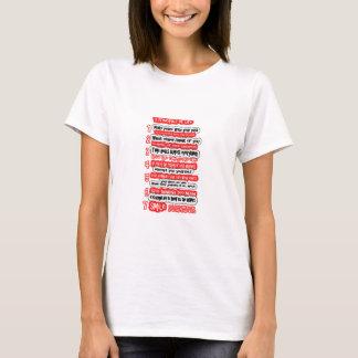 Camiseta 7 REGLAS CARDINALES PARA el texto de la sabiduría