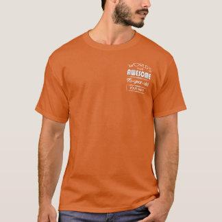 Camiseta 95.o Naranja fabuloso de la llama de los mundos