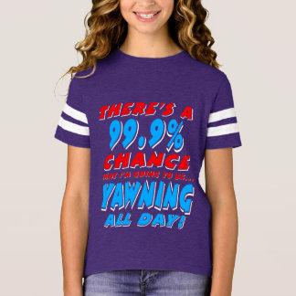 Camiseta 99,9% BOSTEZO TODO EL DÍA (blanco)