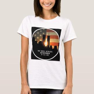Camiseta 9-11 recuerde - nunca olvidaremos