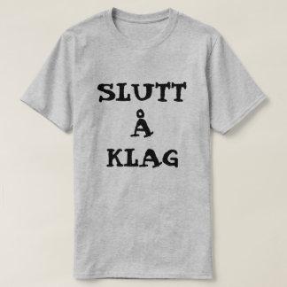 Camiseta Å noruego Klag de Slutt del texto - pare el