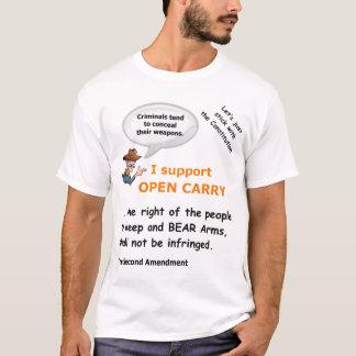 Camiseta Abierto lleve - las derechas del arma de la
