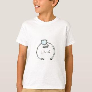 Camiseta Abrazo del ordenador del e-abrazo de la tipografía