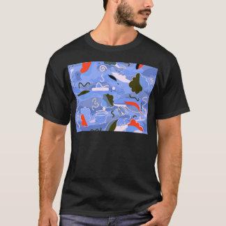 Camiseta Abstracción juguetona azul