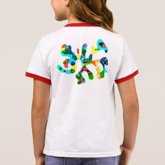 Camiseta abstracta de la mariposa