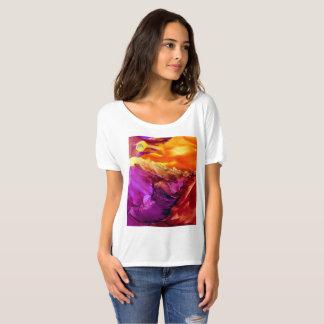 Camiseta abstracta de la puesta del sol