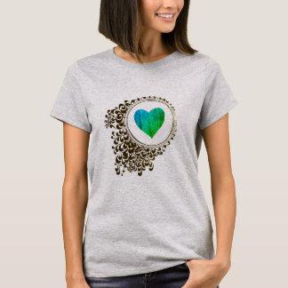 Camiseta abstracta del arte del corazón de la