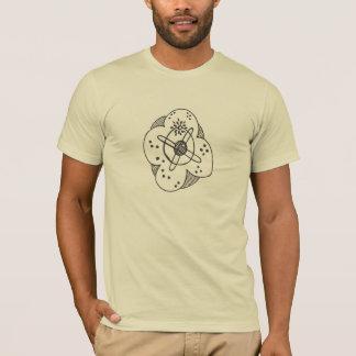 Camiseta abstracta del átomo