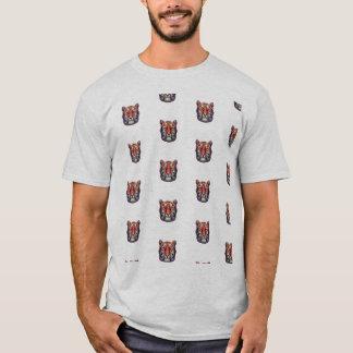 Camiseta abstracta del tigre
