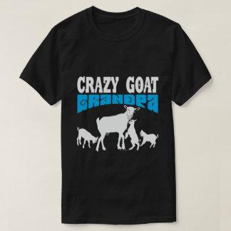 Camiseta Abuelo loco GYG azul de la cabra del amante el |