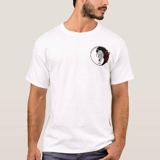 Camiseta Academia blanca de los artes marciales del tigre -