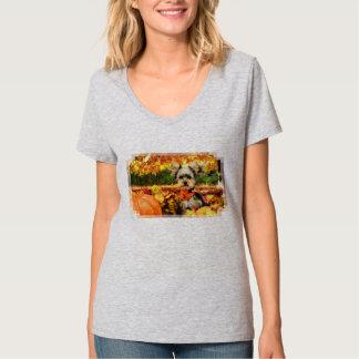 Camiseta Acción de gracias de la caída - máxima - Yorkie