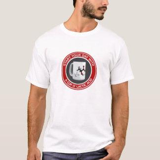 Camiseta Ácido láctico del o de la taza (algodón T)