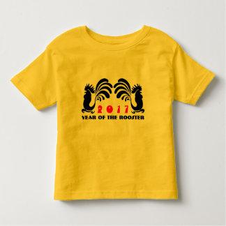 Camiseta adaptable 5a del bebé del gráfico del año