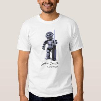 Camiseta adaptable de la empresa de la construcció