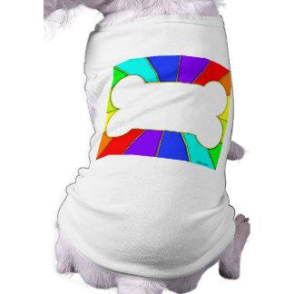 Camiseta adaptable del perro del hueso del arco camiseta sin mangas para perro