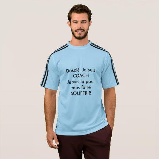 Camiseta Adidas azul, Hombre, entrenador