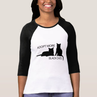 Camiseta Adopte gatos más negros