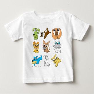 Camiseta adorable del niño de los perros