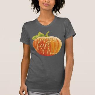 Camiseta Adorno anaranjado de la calabaza de Yall de la