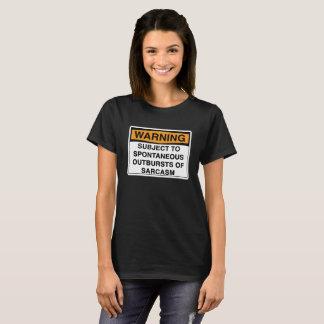Camiseta Advertencia - sarcasmo