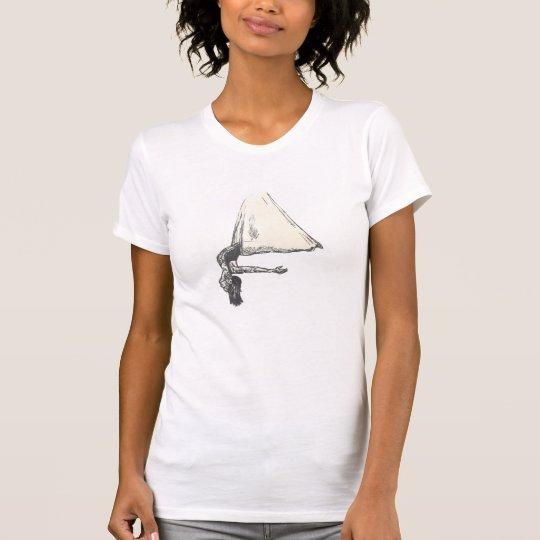Camiseta aérea de la yoga