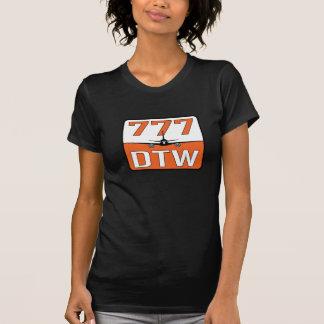 Camiseta Aeroplano 777 con el aeropuerto de DTW (Detroit)