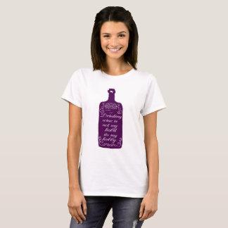 Camiseta Afición de consumición divertida del vino