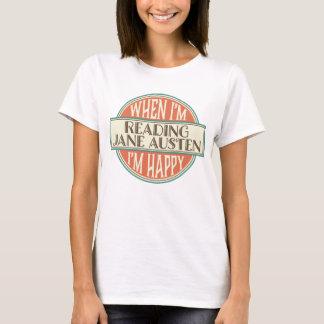Camiseta Aficionado a los libros de Jane Austen que lee la