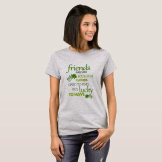 Camiseta Afortunado para tener amigos reales