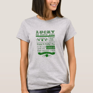 Camiseta Afortunado para tenerle