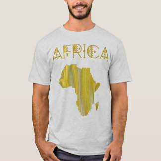 Camiseta africana de oro