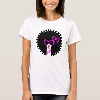 Camiseta afro rosada de los chicas linda
