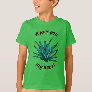 Camiseta agavo usted mi corazón