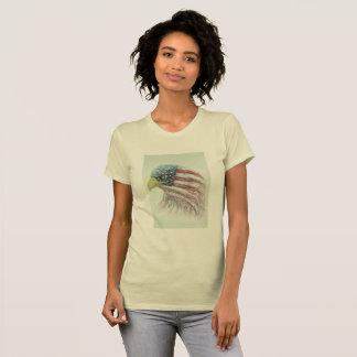 Camiseta águila, águila con la bandera americana, águila