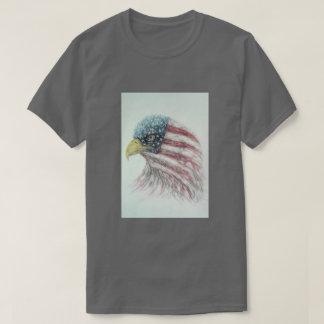 Camiseta águila, águila con la bandera americana, eagl