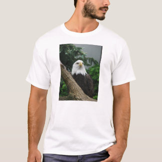 Camiseta águila calva magestic que descansa en árbol