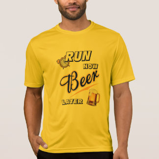 Camiseta Ahora corra el Deporte-Tek posterior SS de la