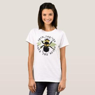Camiseta ¡Ahorre la abeja! ¡Ahorre el mundo! Colección del