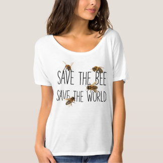 Camiseta ¡Ahorre la abeja! ¡Ahorre el mundo! Vive el diseño