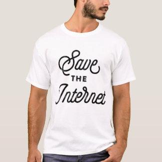 Camiseta Ahorre la escritura rústica de la caligrafía del