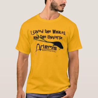 Camiseta Ahorré las ballenas, y el universo