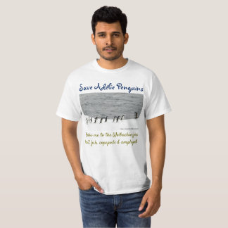 Camiseta Ahorre los pingüinos de Adélie por RoseWrites