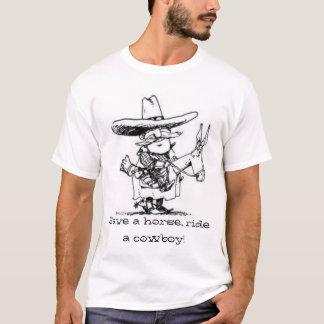 Camiseta ahorre un caballo, monte a un vaquero